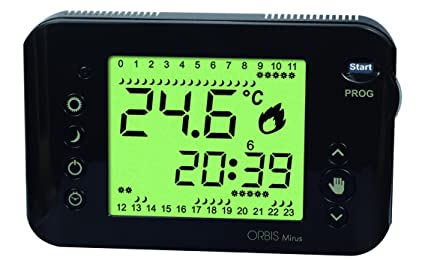 Orbis Mirus relojes termostato, antracita, OB324710
