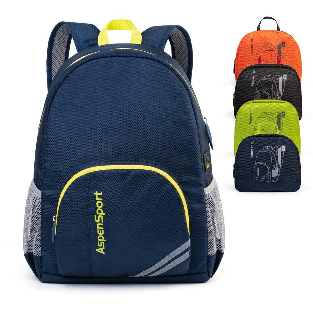Aspensport Foldable Backpack Lightweight Hiking Daypack for Men Women Bag 18L