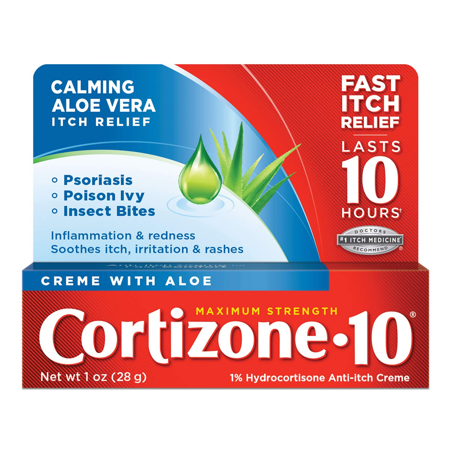 Cortizone 10 Plus Anti-Itch Cream, 1 Ounce