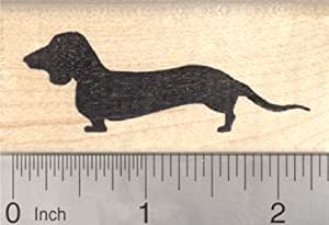 Smooth Haired Dachshund Dog Solid Rubber Stamp for Stamping Crafting Planners 3//4 Inch Small