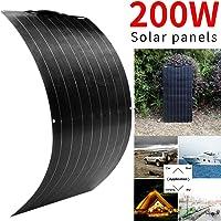 Paneles solares monocristalinos flexibles del panel solar 200W para la carga de RV del barco que acampa casero