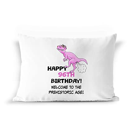 96th Birthday Dinosaur Gift Pillowcase