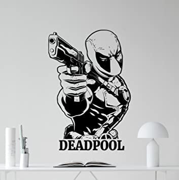 Deadpool Wall Decal Marvel Comics Superhero Movie Vinyl Sticker Cinema  Superhero Wall Art Design Housewares Kids