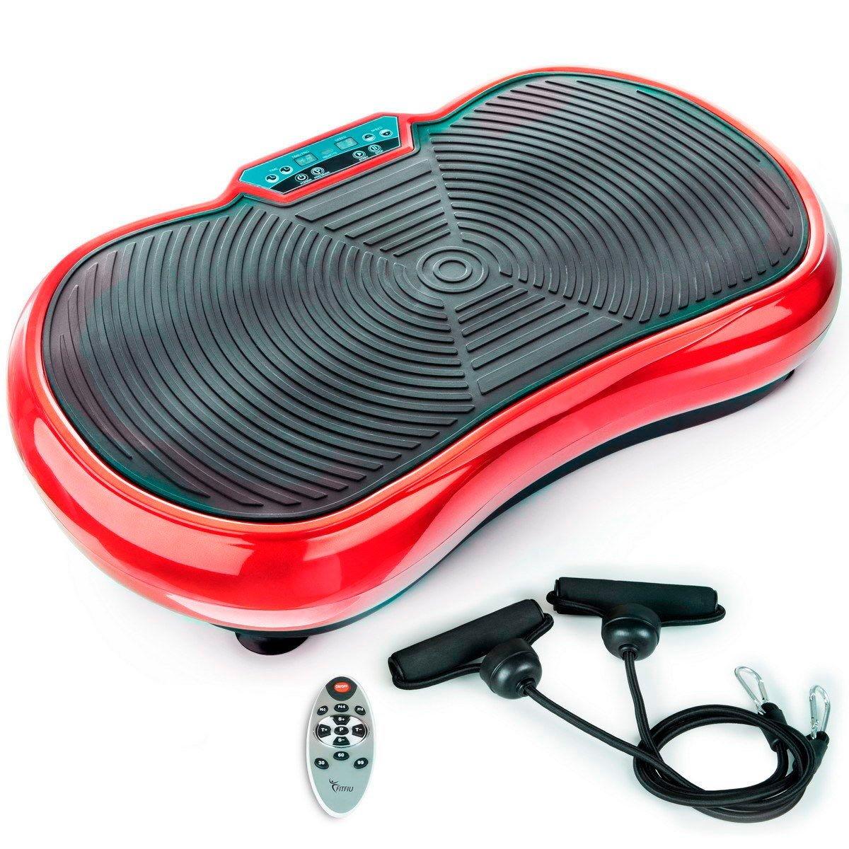 Plataforma Vibratoria con Tensores de Ejercicio y Mando a Distancia