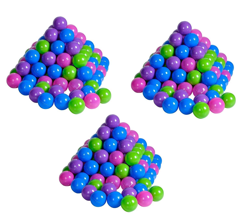 Knorrtoys 56791 - Bälleset - 300 Stück Plastikbälle / Bälle für Bällebad, 6 cm Durchmesser, pastell, ohne gefährliche Weichmacher knoortoys_56791