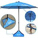 "EasyGO Products Xbrella Best High Wind Resistant Beach Umbrella, 7.5""/Large"