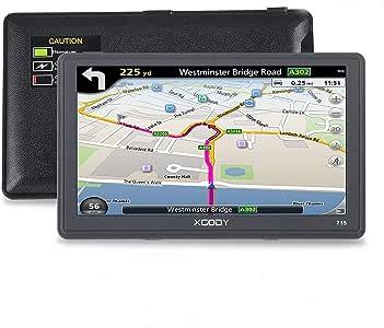 Xgody 715 - Sistema de Navegación GPS para Camión de 7 Pulgadas con Pantalla Táctil capacitiva de 8 GB ROM SATNAV Navigator con mapas de por Vida actualizaciones de Dirección de Giro