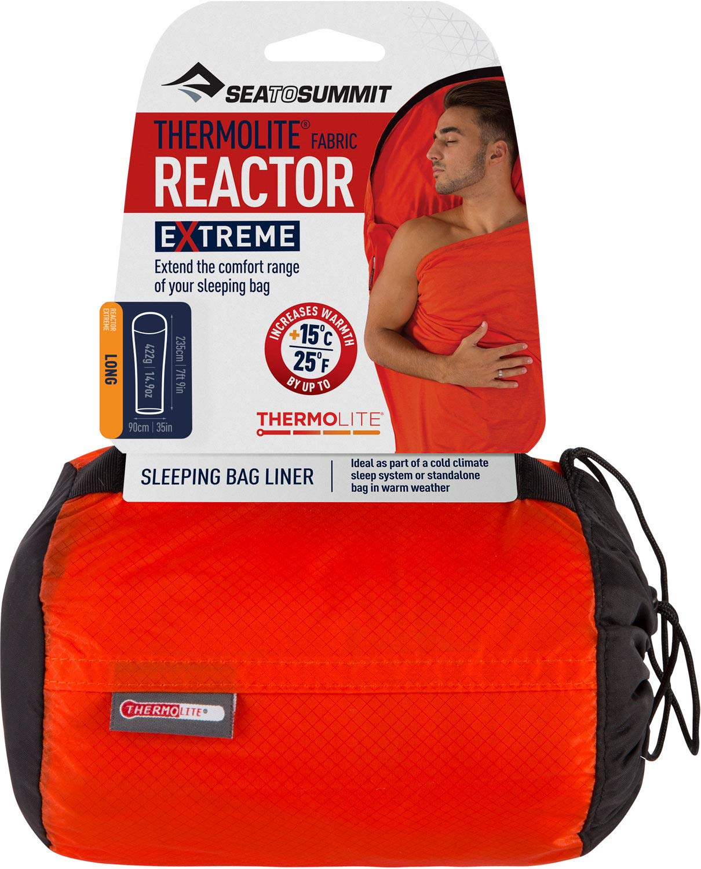 Long rojo 2017 Sea to Summit Thermolite Reactor Extreme Mummy Sacos de dormir