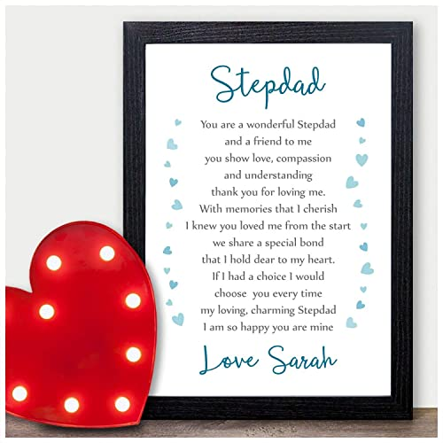 personalised step dad fathers day poem gifts for best step dad daddy presents stepdad step