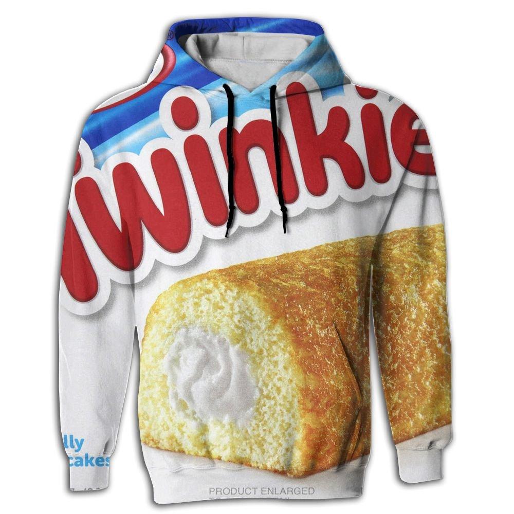 DJFZZZ Mens Running Printed Twinkies Kangaroo Pocket Meme 3D Hooded