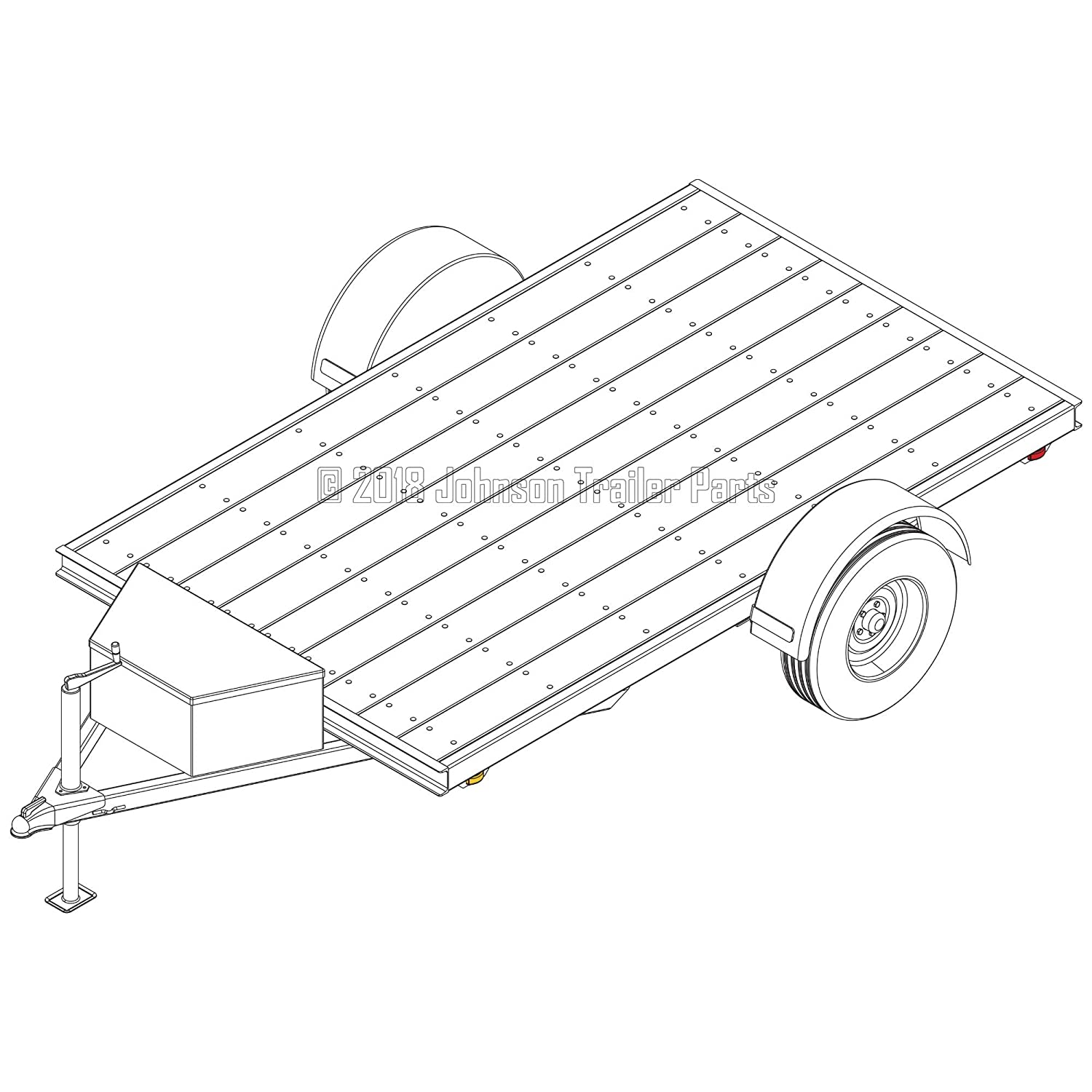 6/′ x 10/′ Utility Trailer Plans Trailer Blueprints Model U72-120-35J 3,500 lb Capacity