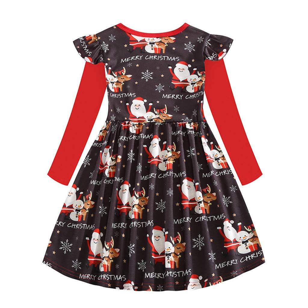 Muium Christmas Robe de Princesse Enfant en Bas /âge,Bas /âge no/ël Animal de Bande dessin/ée Dessin anim/é Bonhomme de Neige Tenue Vestimentaire