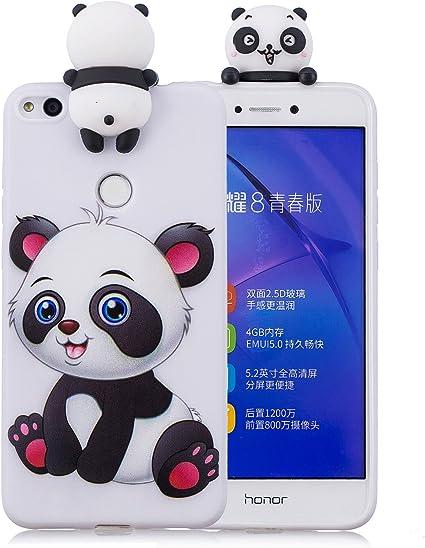 Keteen Cover per Huawei P8 Lite 2017 Custodia, Moda 3D Carino Animale TPU Silicone Bumper Flessibile Morbido Anti Graffio Protettiva Case Anti Scivolo ...