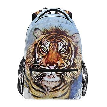 Wamika Tiger Mochila de Acuarela para Pintar, Impermeable, para Escuela, Gimnasio, Mochila