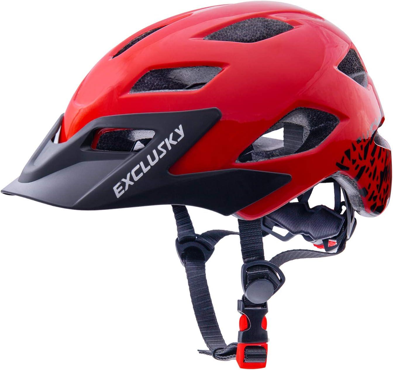 Exclusky Kids Bike Helmet, Lightweight Youth Roller Skate Helmet, Size Adjustable Child Bicycle Cycling Helmets for Boys Girls Scooter, 50-57cm(Ages 5-14)