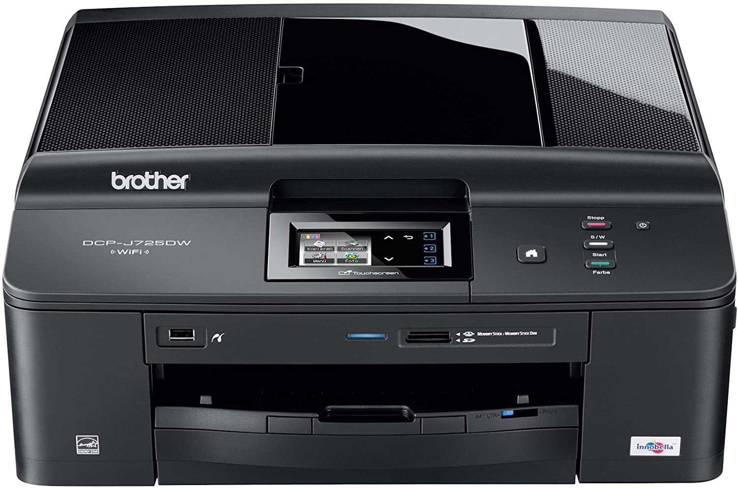 Brother DCPJ725DW - Impresora multifunción de Tinta Color (A4, 12 ...