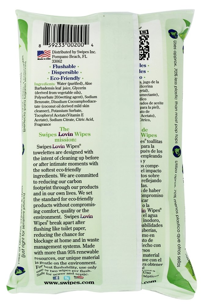 Amazon.com: Swipes - Lovin Wipes Cucumber - 42 Count: Health & Personal Care