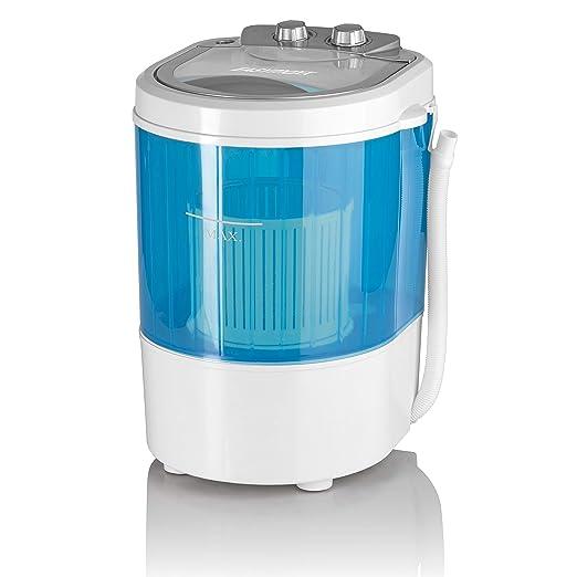 EASYmaxx 07475200125 - Lavadora (Portátil, Carga superior, Azul, Blanco, Giratorio, Arriba, 3 kg)