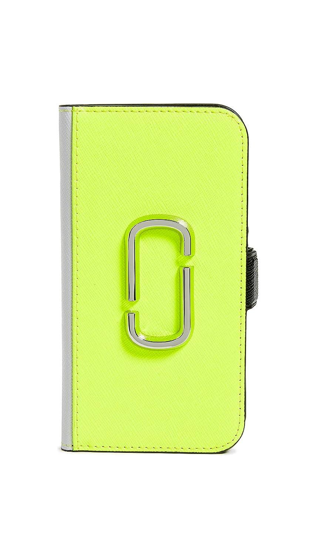 Marc Jacobs レディース スナップショット ブックケース iPhone 8 ケース  Bright Yellow Multi B07GT5G14Y