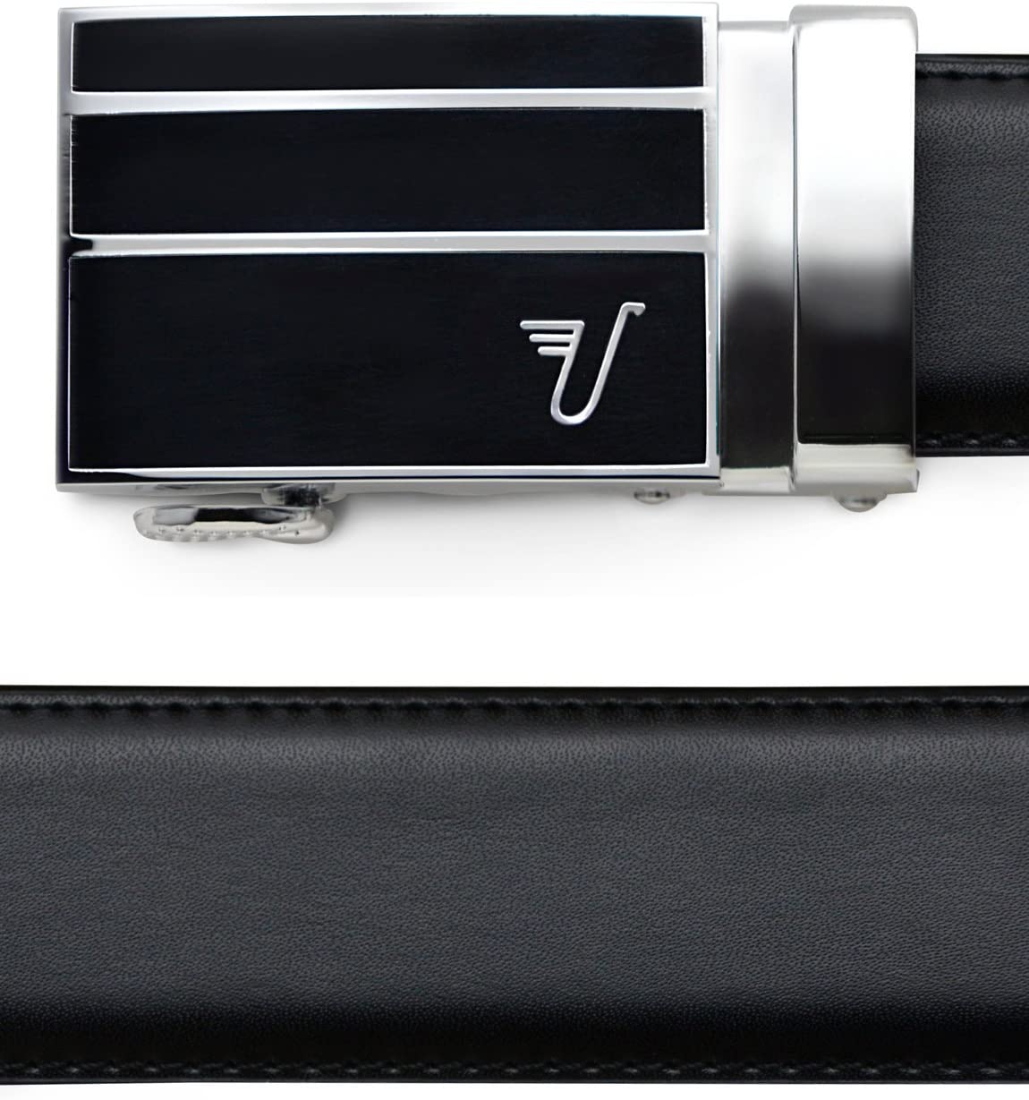 Medium 33-35 Americano Buckle//Deep Blue Leather Mission Belt Mens Ratchet Belt