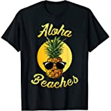 Pineapple Sunglasses T shirt Aloha Beaches Hawaiian Hawaii T-Shirt