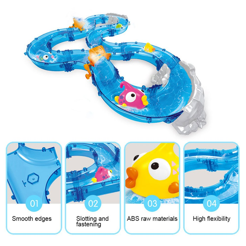 Umiwe Mountain Lake Kids Waterplay Go Fishing Toy Game Race Track Set with Two Fishing Rods and Play Mat for Summer Beach Sandpit Sand Garden Outdoors Fun by Umiwe (Image #5)