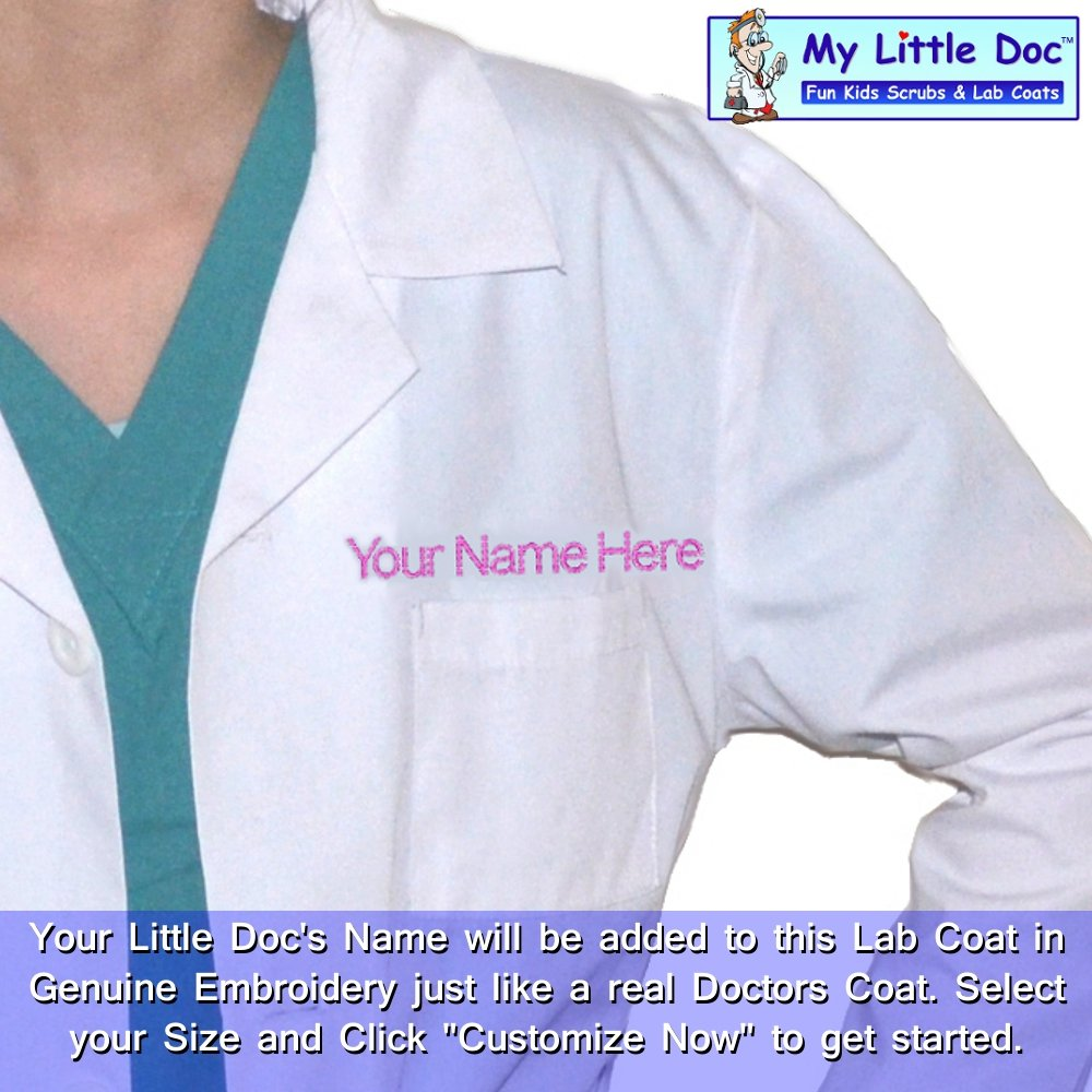 98f995162a3 Amazon.com: My Little Doc Personalized Kids Lab Coat: Clothing