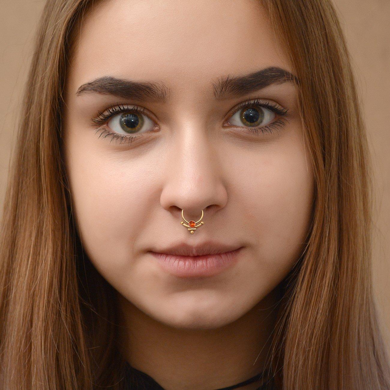 CZ Septum Ring Septum Piercing Daith Earring