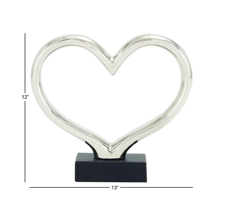 Deco 79 92903 Ceramic Silver Abstract UMA Enterprises