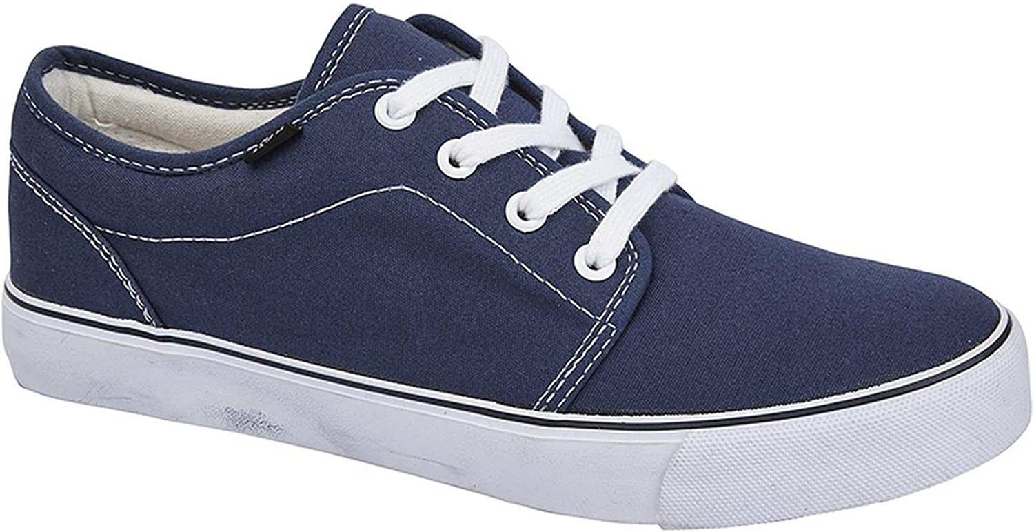 Canvas Low Trainers Lace Up Boat Shoes