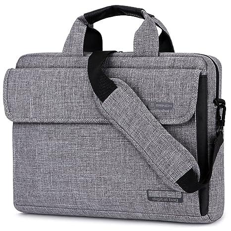 Maletín BRINCH para ordenadores portátiles maletín tejido Oxford bolso de hombro Unisex para ordenadores de 17