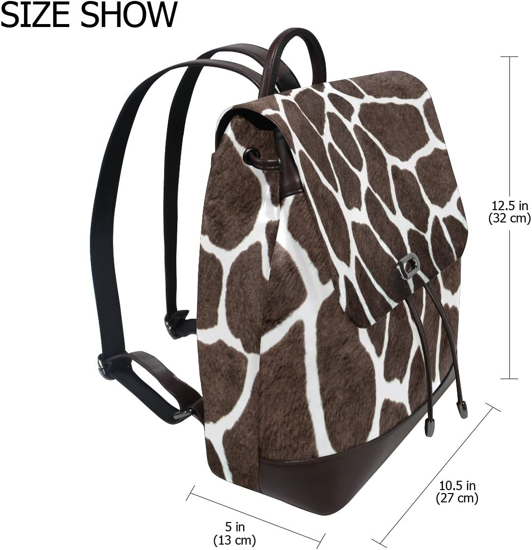 KUWT Animal Leopard Print PU Leather Backpack Photo Custom Shoulder Bag School College Book Bag Rucksack Casual Daypacks Diaper Bag for Women and Girl