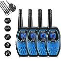 4-Pack Mksutary Rechargeable 2 Way Radios Walkie Talkies