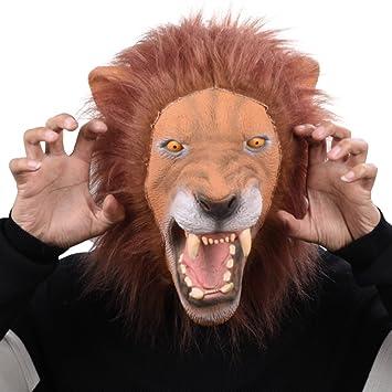 Party Story Rey León Máscara de Animal de Látex Novedad Disfraz de Halloween Máscaras Máscara de