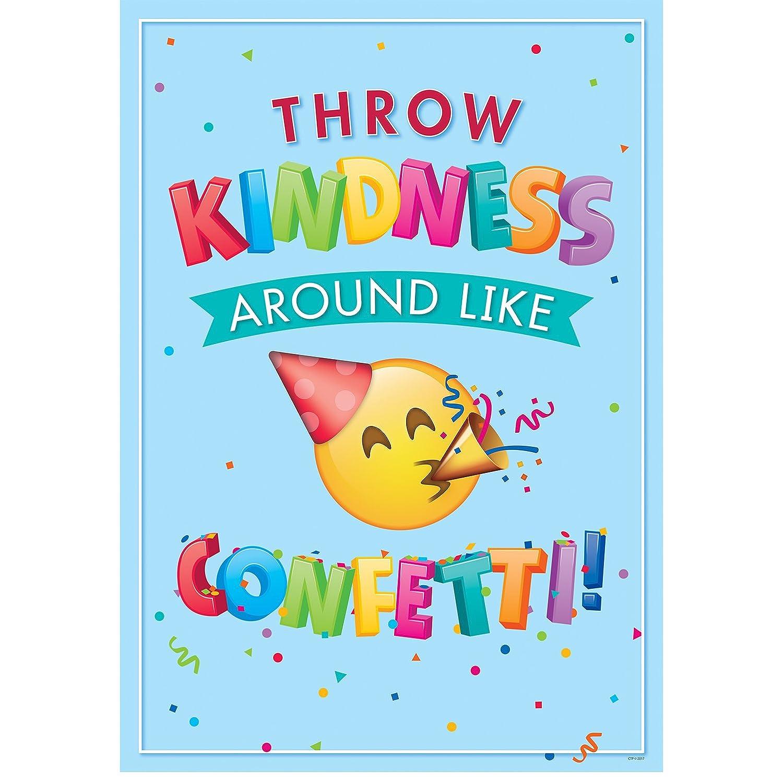 Creative Teaching Press Wall Poster Throw Kindness Around. Emoji ...