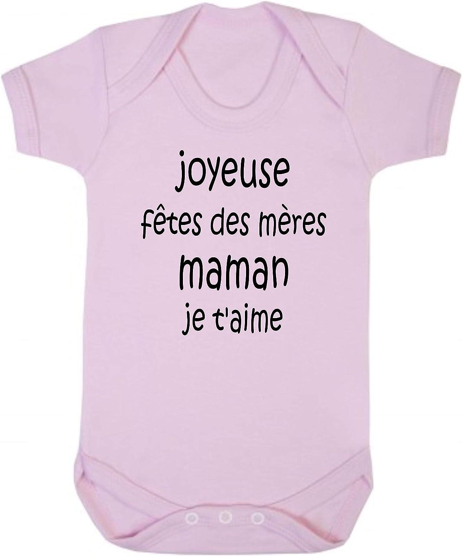 Joyeuse F/êtes des M/ères Maman Click My Clobber B/éb/é Body