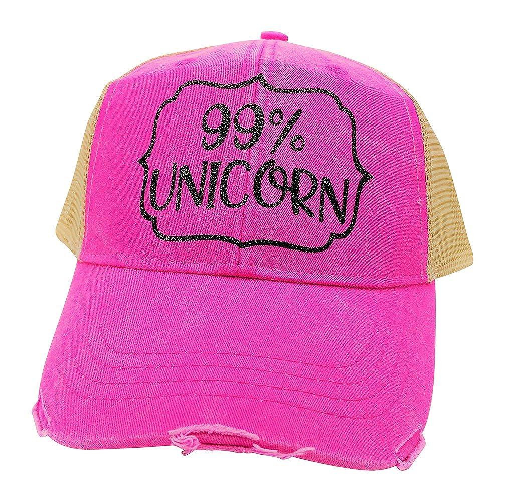 e676e9cf9 Loaded Lids Women's 99% Unicorn Bling Trucker Style Baseball Cap ...