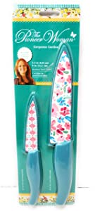 The Pioneer Woman 2 pc Gorgeous Garden Knife Set, chef and paring