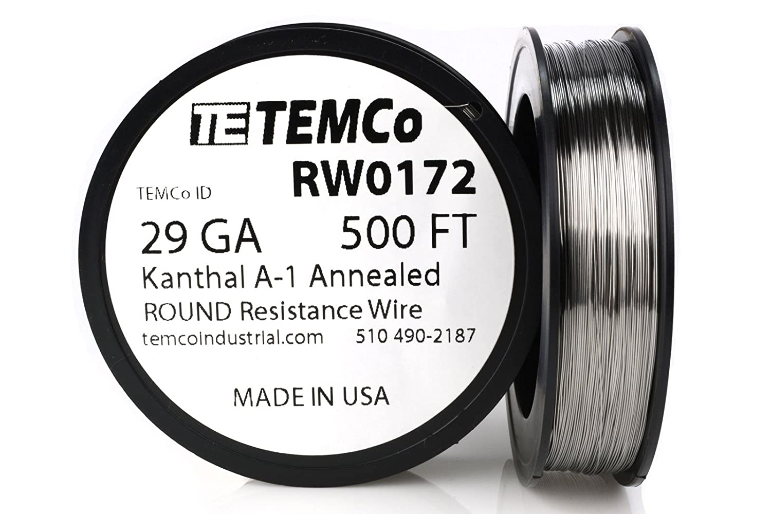 TEMCo Kanthal A1 wire 29 Gauge 50 Ft Resistance AWG A-1 ga ...
