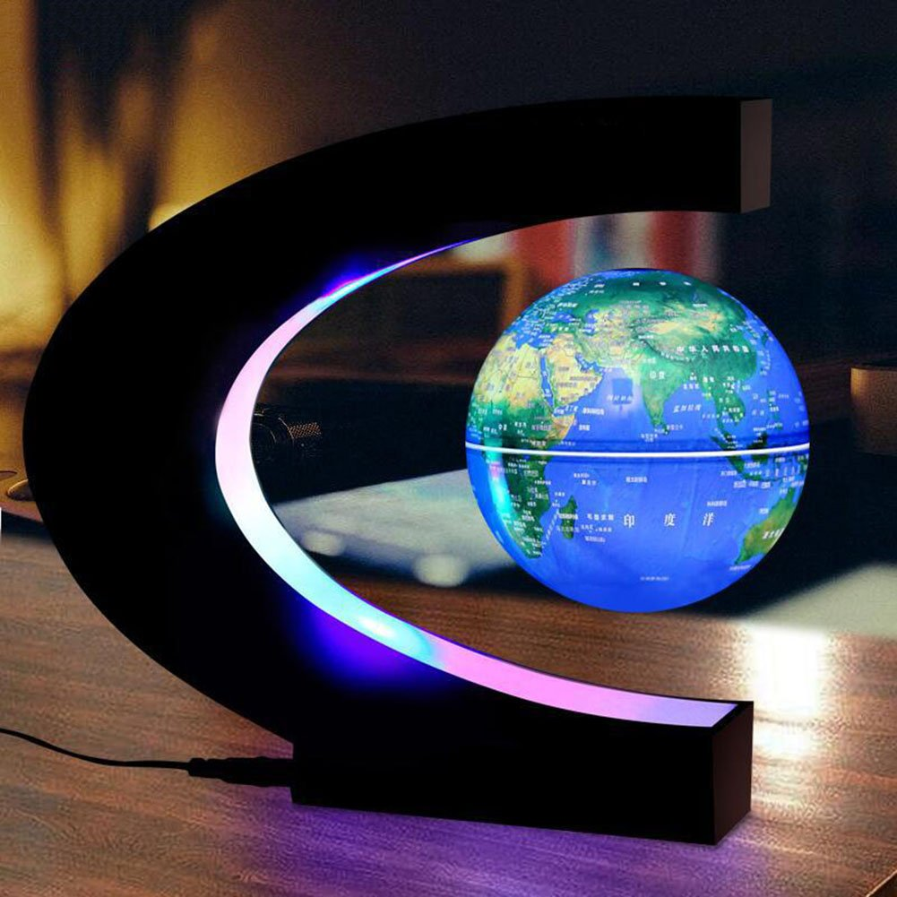 Anti Gravity Levitation Globe Magnetic Floating World Map with Colored LED Light by CHAVAN