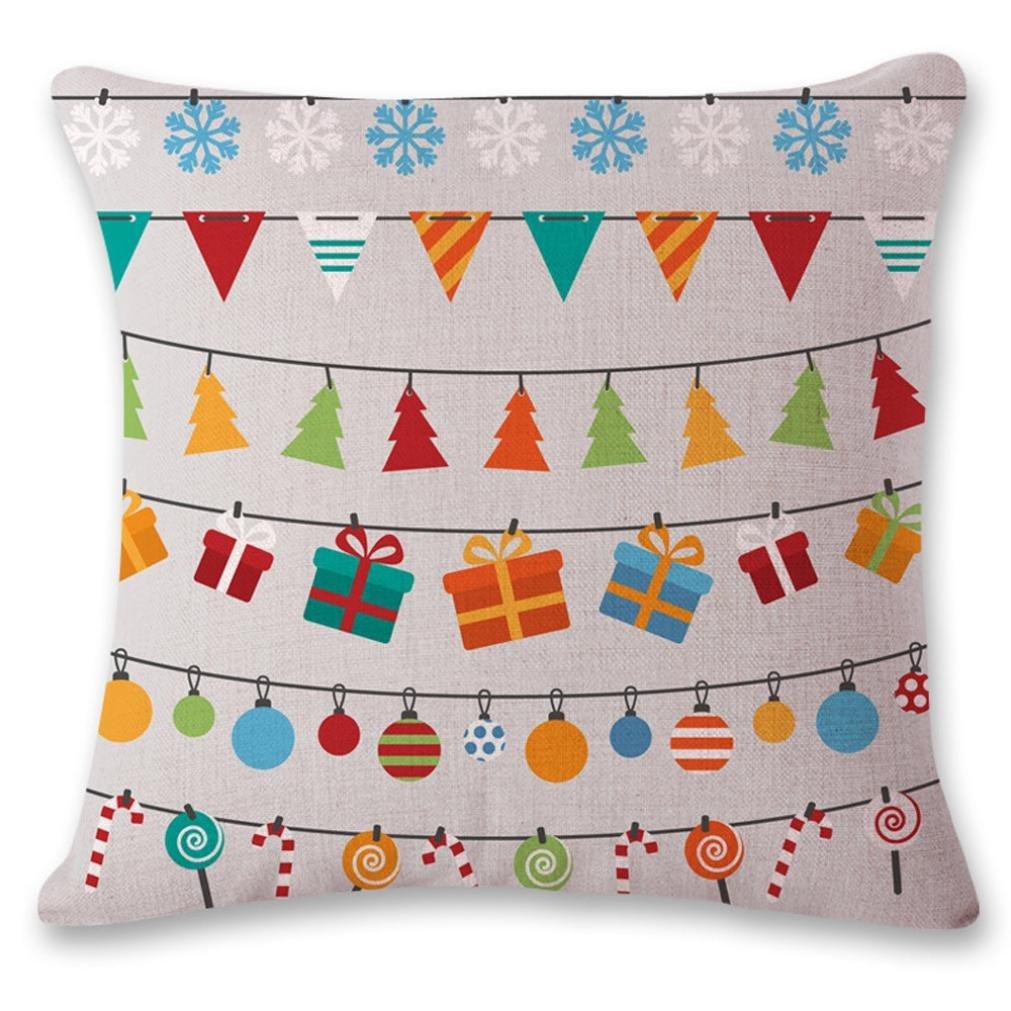 枕ケース、neartimeクリスマスソファベッドホームインテリアクリスマスクッションカバー 45cm*45cm/18*18