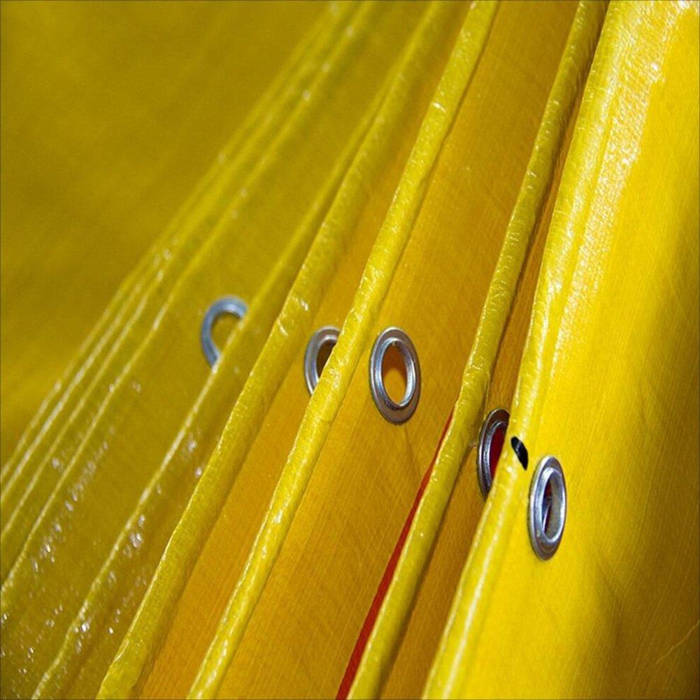 LQQGXL Hochtemperaturanti-Altern, Plane, im Freien Wasserdichte Plane doppelseitiges feuchtigkeitsdichtes Frachtstaubtuch, Hochtemperaturanti-Altern, LQQGXL Gelb + Orange Wasserdichte Plane ad6235