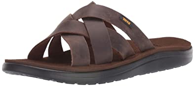 4eb595473303 Amazon.com  Teva Men s M Voya Slide Leather Sandal  Shoes