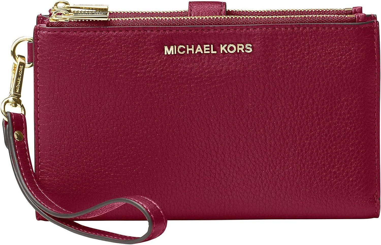 MICHAEL Michael Kors Double Zip Wristlet Berry One Size