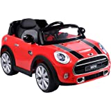 Costzon Red BMW Mini Cooper 12V Electric Kids Ride On Car Licensed MP3 RC Remote Control