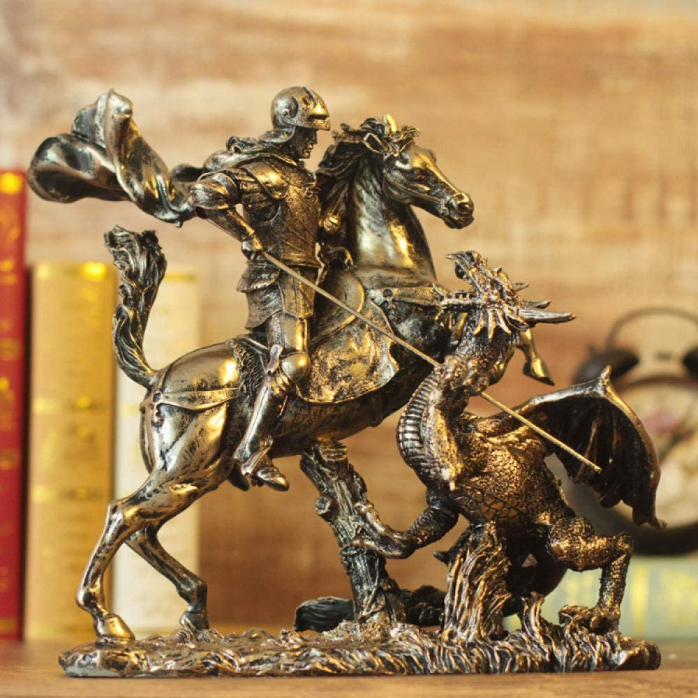 Amazon Com Uldq Statues And Sculptures Statue Art Sculpture Greek Knight Dragon Armor Model Roman Armor Warrior Creative Bar Decoration Home Decoration Home Kitchen #saint seiya #dragon armor #pegusus #hopefully now they finish the series #finish the series in english please! amazon com