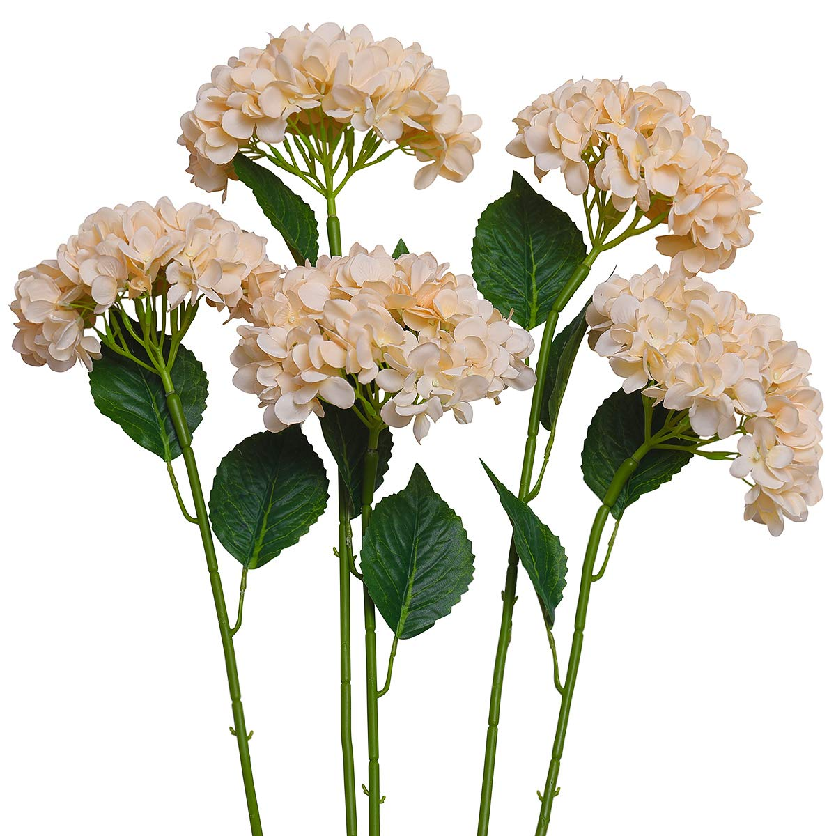 Amazon Party Joy 5pcs Artificial Hydrangea Silk Flowers Bouquet