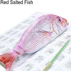 FOReverweihuajz Creative 3D - Estuche para lápices en forma de pez, bolsa de papelería escolar, bolsa de cosméticos, suministros de almacenamiento – 7 tipos está disponible Red Salted Fish 2: Amazon.es: Hogar