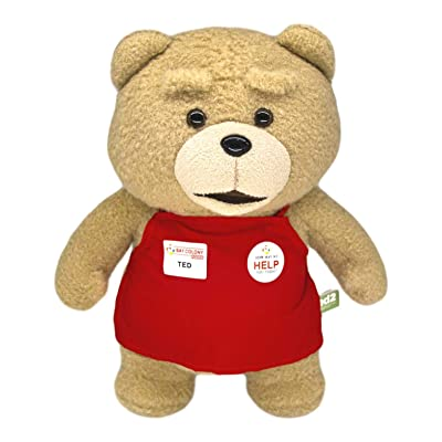 "Teddy Bear in Red Apron, Ted from The Movie Ted, Stuffed Toys Fun & Cute Plush Gift 13"": Office Products"