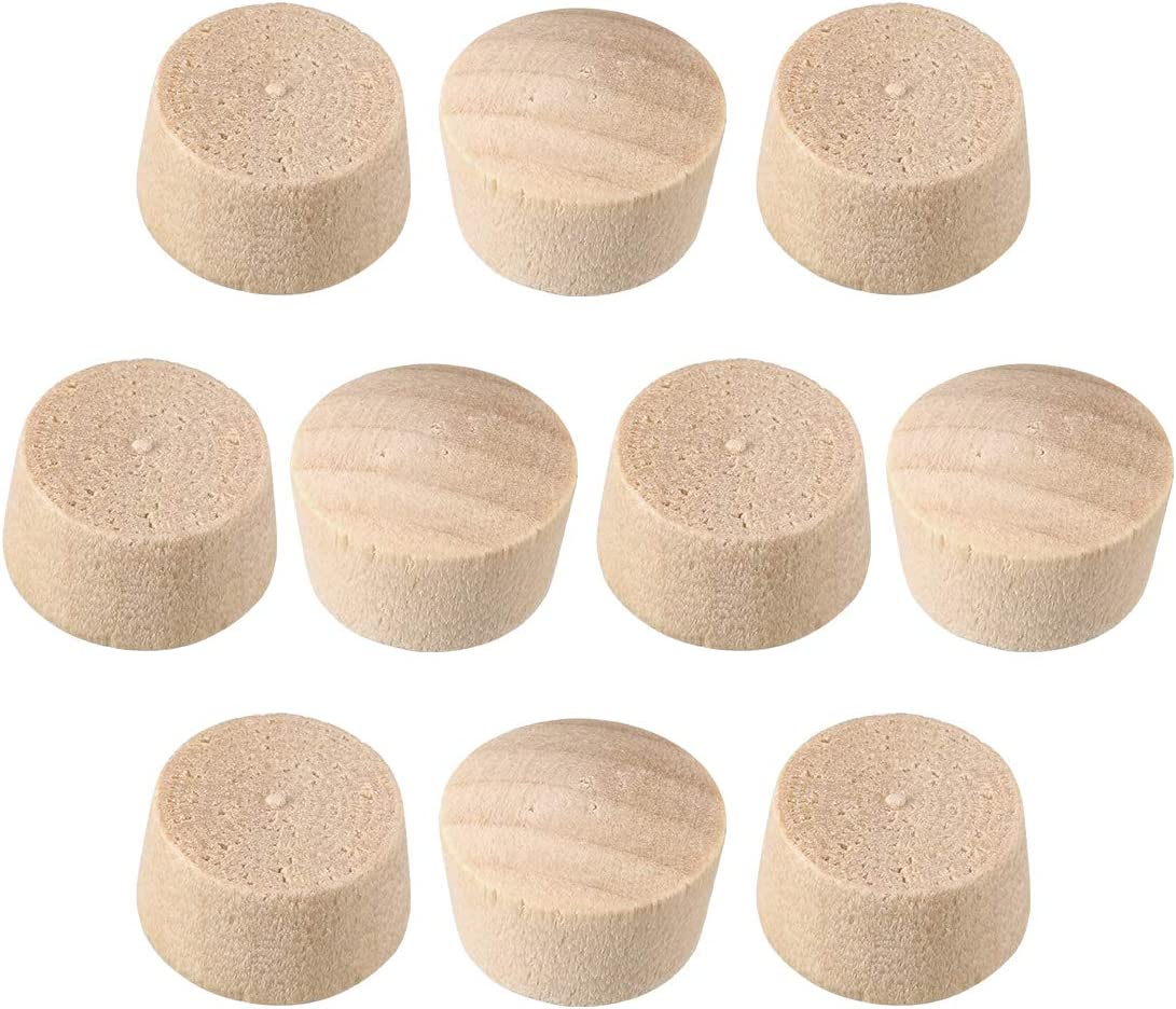 uxcell Wood Button Top Plugs 1/2 Inch Cherry Hardwood Furniture Plugs 9/25 Inch Height 50 Pcs